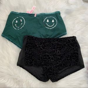 (NWT) VS PINK | Velour Boyshort Panties Bundle (S)
